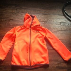Bright coral full zip up